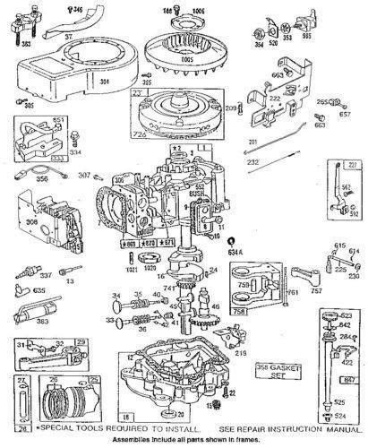 5hp briggs and stratton carburetor diagram 5 hp briggs stratton parts ebay