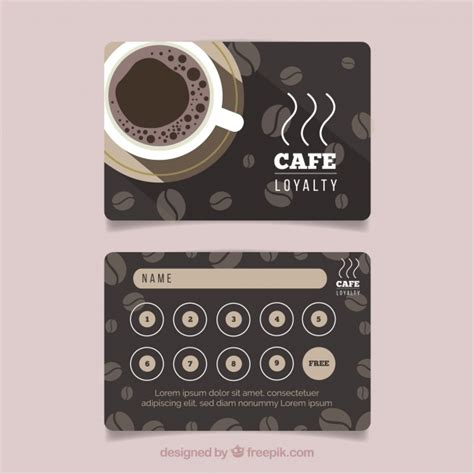 Http Www Freepik Free Vector Coffee Business Card Template 1105489 Htm by Cupones Vectors Photos And Psd Files Free