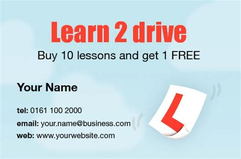 driving instructor business cards templates print templates printing