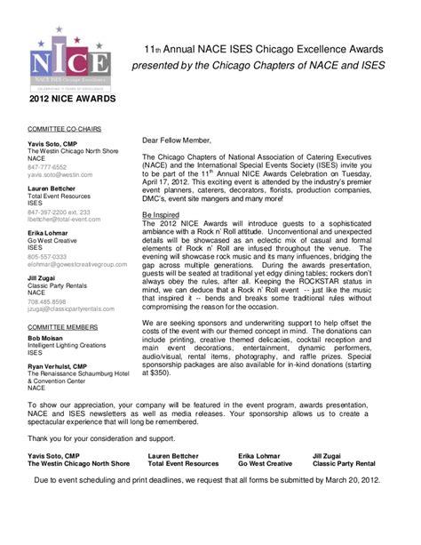 formal email format for sponsorship nice awards sponsorship form