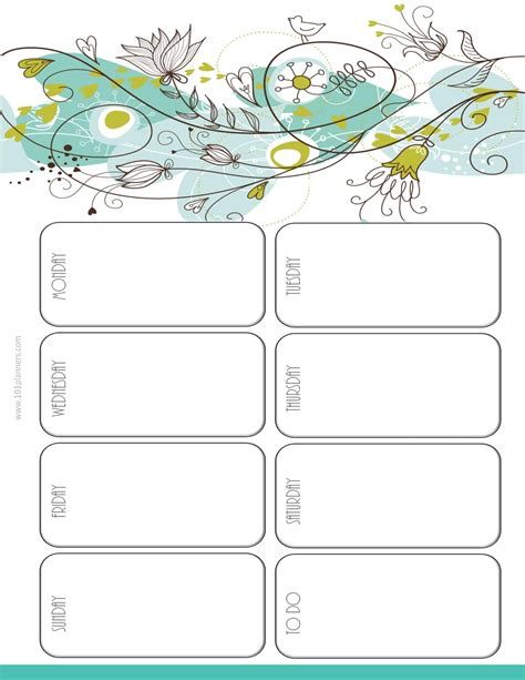 Weekly Calendar Maker Create Free Custom Calendars Printable Template