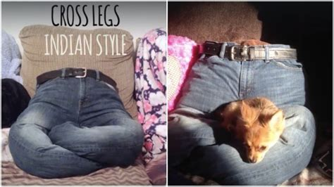 repurpose jeans   doggy bed home design