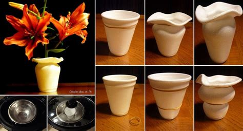 floreros de vasos de unicel - Floreros De Unicel