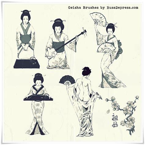photoshop tutorial japanese art geisha japanese photoshop brushes medium size by