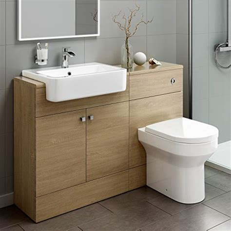 bathroom storage set 1160mm luxury oak wood toilet sink vanity unit bathroom