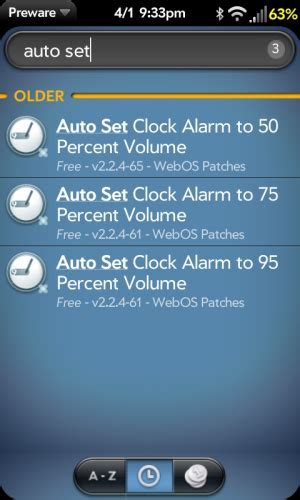 install auto set clock alarm volume patches webos nation