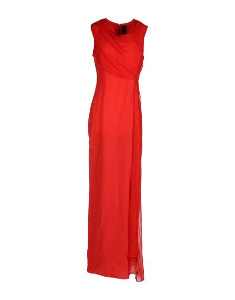 vera wang dresses cocktail dresses maxi dresses vera wang long dress in red lyst