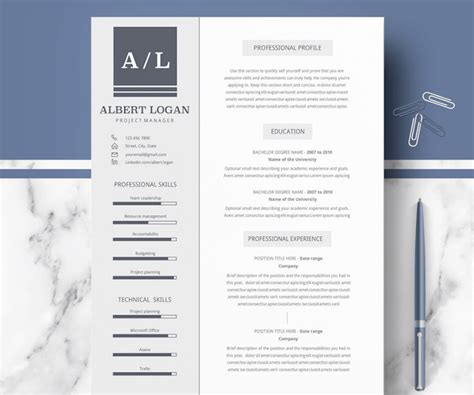 50 Best Resume Templates For Word That Look Like Photoshop Designs Professional Templates Microsoft Word
