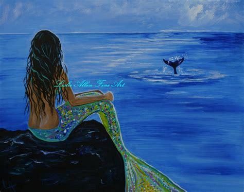mermaid painting mermaid print mermaids giclee wall mermaid decor