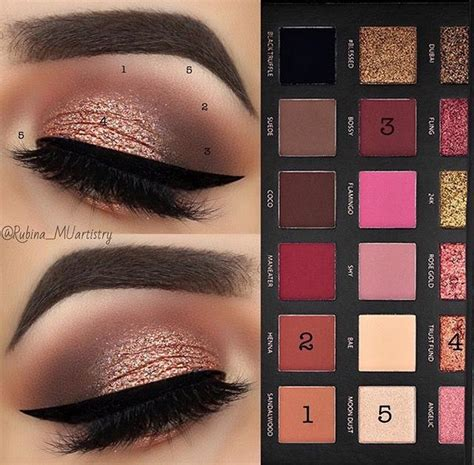 Make Eyeshadow Pallete And Smokey huda gold eyeshadow palette makeup