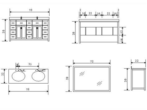 Standard Size Vanity Tops by 78 Quot Sink Vanity White Dec088 W Modern