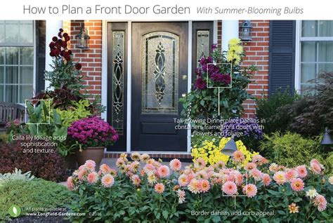 Front Door Garden An Impact With Border Dahlias Longfield Gardens