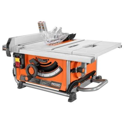 home depot portable table saw ridgid 15 10 in compact table saw r4516 the home depot