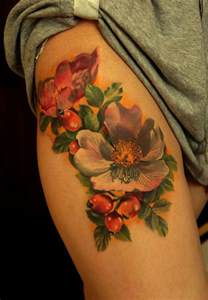 wild rose flower tattoo