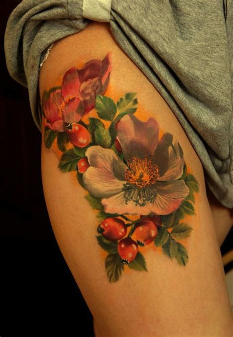 wild rose tattoos flower