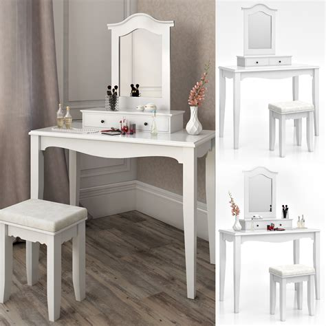 Bedroom Vanity Table Dressing Table Stool Makeup Table Storage Mirror Bedroom Vanity Table Cheverny Ebay