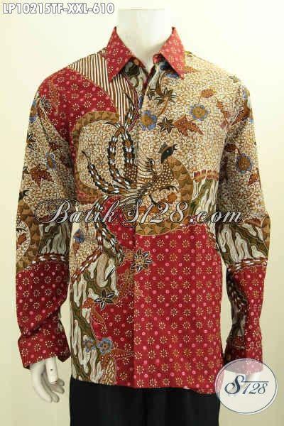 Jaskoko Ekslusif Lengan Panjang S Xl model baju batik hem lengan panjang exclusive lelaki gemuk