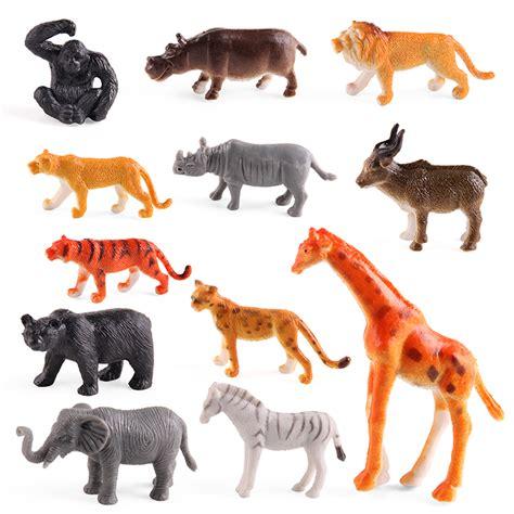 Mainan Animals World Set 12pcs set simulation small zoo world realistic forest