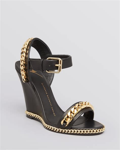 Giuseppe Zanotti Architectural Wedge Sandal It Or It by Giuseppe Zanotti Platform Wedge Sandals Tunder Chain In