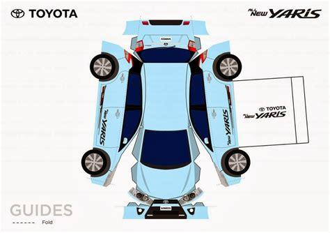 Toyota Papercraft - toyota yaris papercraft make your come true
