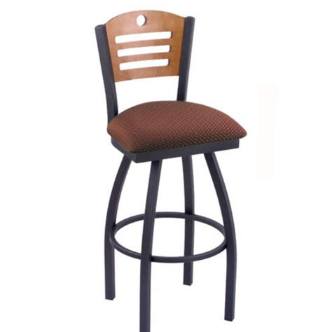 bar stools with fabric seat holland voltaire swivel bar stool with fabric or vinyl seat style d back hb vo830