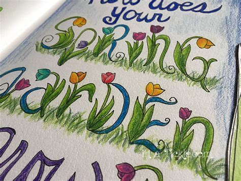 The Letter Garden by Garden Lettering In A Tickle