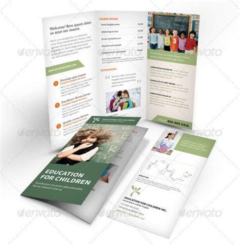 template brosur photoshop gratis 25 contoh brosur sekolah pendidikan free download
