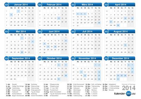 Kalender 2014 Feiertage Kalender 2014