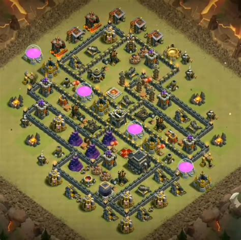 coc unique layout top 50 best th9 bases in the world new 2018 war