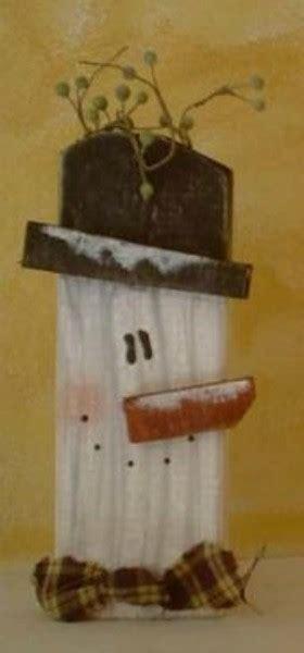 wooden country snowman thriftyfun
