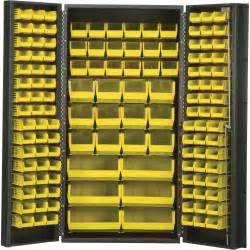 quantum storage cabinet with 132 bins 36in x 24in x