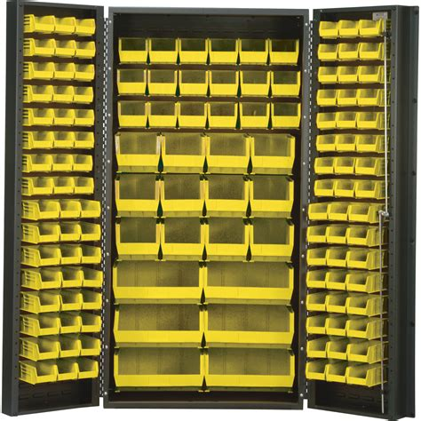 Quantum Storage Cabinet Quantum Storage Cabinet With 132 Bins 36in X 24in X 72in Size Storage Bin Cabinets