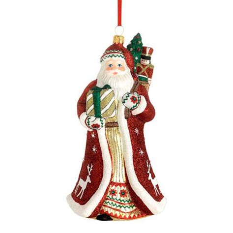 2015 reed barton folklore santa glass blown christmas