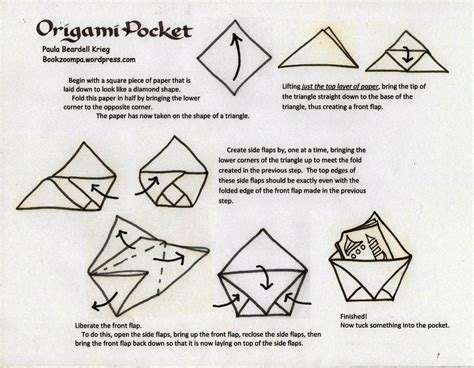 How To Make Pockets Out Of Paper - origami pocket playful bookbinding and paper works