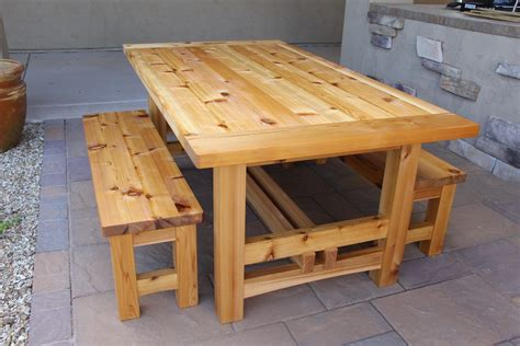 Outdoor Wood Patio Table 209 Rustic Outdoor Table 2 Of 2 The Wood Whisperer