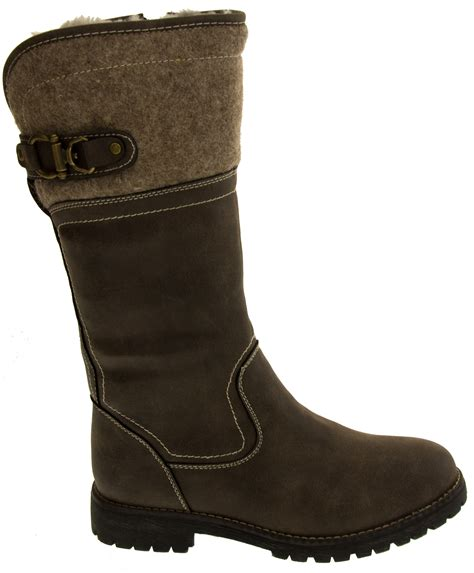 warm winter boots for womens keddo mid calf faux leather boots warm