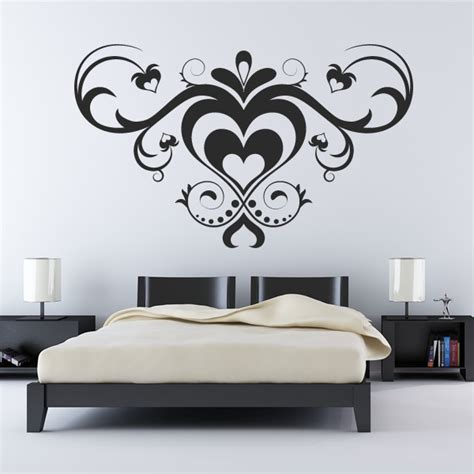 stickers on wall multiple love heart pattern wall art sticker wall decals