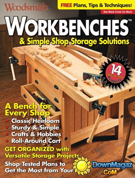 woodsmith workbenches simple shop storage solutions