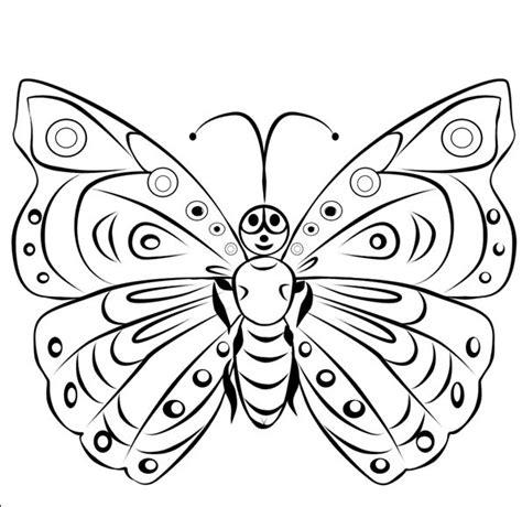 sketsa gambar kupu kupu hitam putih  diwarnai info