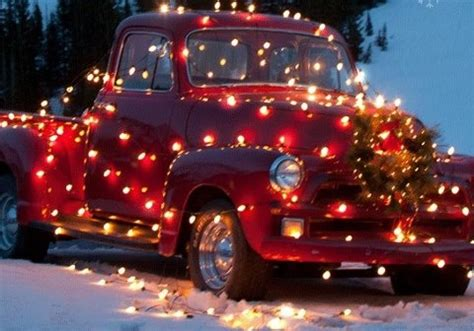 truck decorated for christmas holidays pinterest