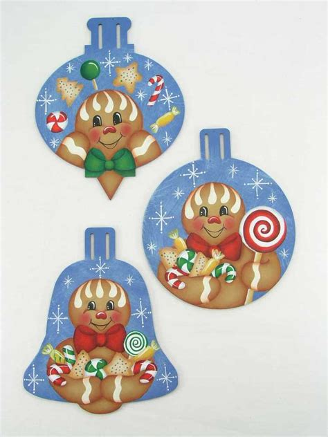 christmas sugarplum gingerbread ornaments tole decorative