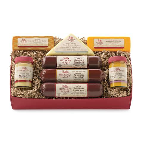 warm hearty  gift box hickory farms