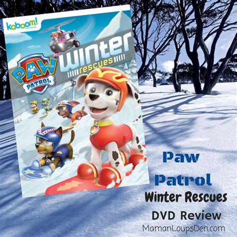 Paw Patrol Winter Rescues Now On Dvd Mbsgiftguide Giveaway | paw patrol winter rescues dvd review