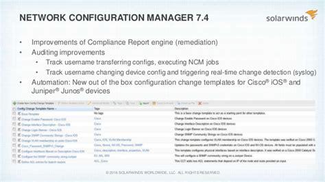 Solarwinds Federal User Group 2016 Solarwinds Network Management Pr Configuration Management Plan Template Nist