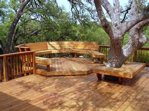 great deck design ideas corner