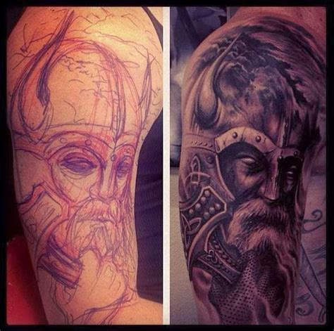 old knight portrait tattoo on arm ink pinterest nuevas