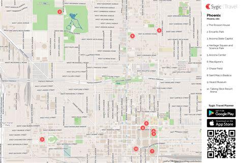 printable phoenix area map phoenix printable tourist map sygic travel