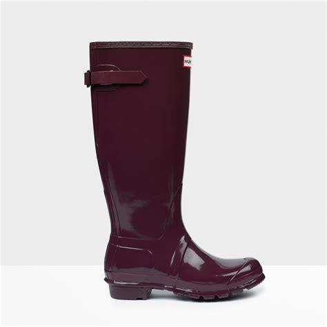 original adjustable gloss boots in purple