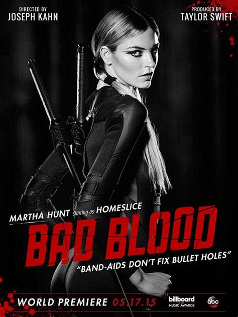 membuat poster bad blood taylor swift and martha hunt prep for sword fight in bad