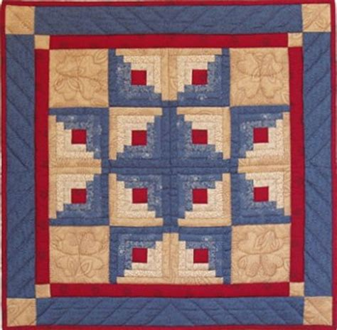 Log Cabin Patchwork Quilt Patterns - quilt kits amish wall quiltkits and patterns